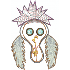 Ms Desert Skull with feathers