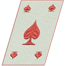 Queen of Spades card slanted