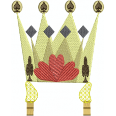 Queen's crown with tassel