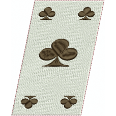 Queen of Clubs card slanted