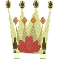 Queen's crown with fringe