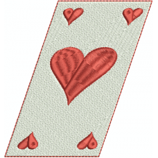 Queen of Hearts card slanted