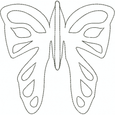 Butterfly Outline3