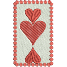 Queen of double Hearts large card