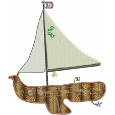 Sailboat 2D applique